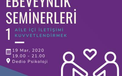 Etkili Ebeveyn Seminerleri 1 – Aile İçi İletişimi Kuvvetlendirmek – 19 Mart 2020
